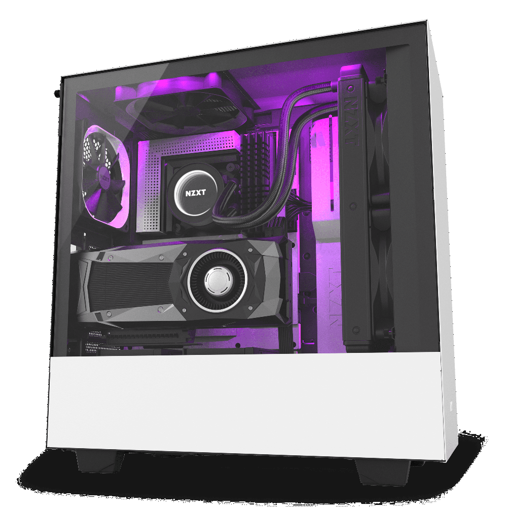 NZXT H500i Matte White - Tempered Glass - RGB-Smart Device (5060301694105)