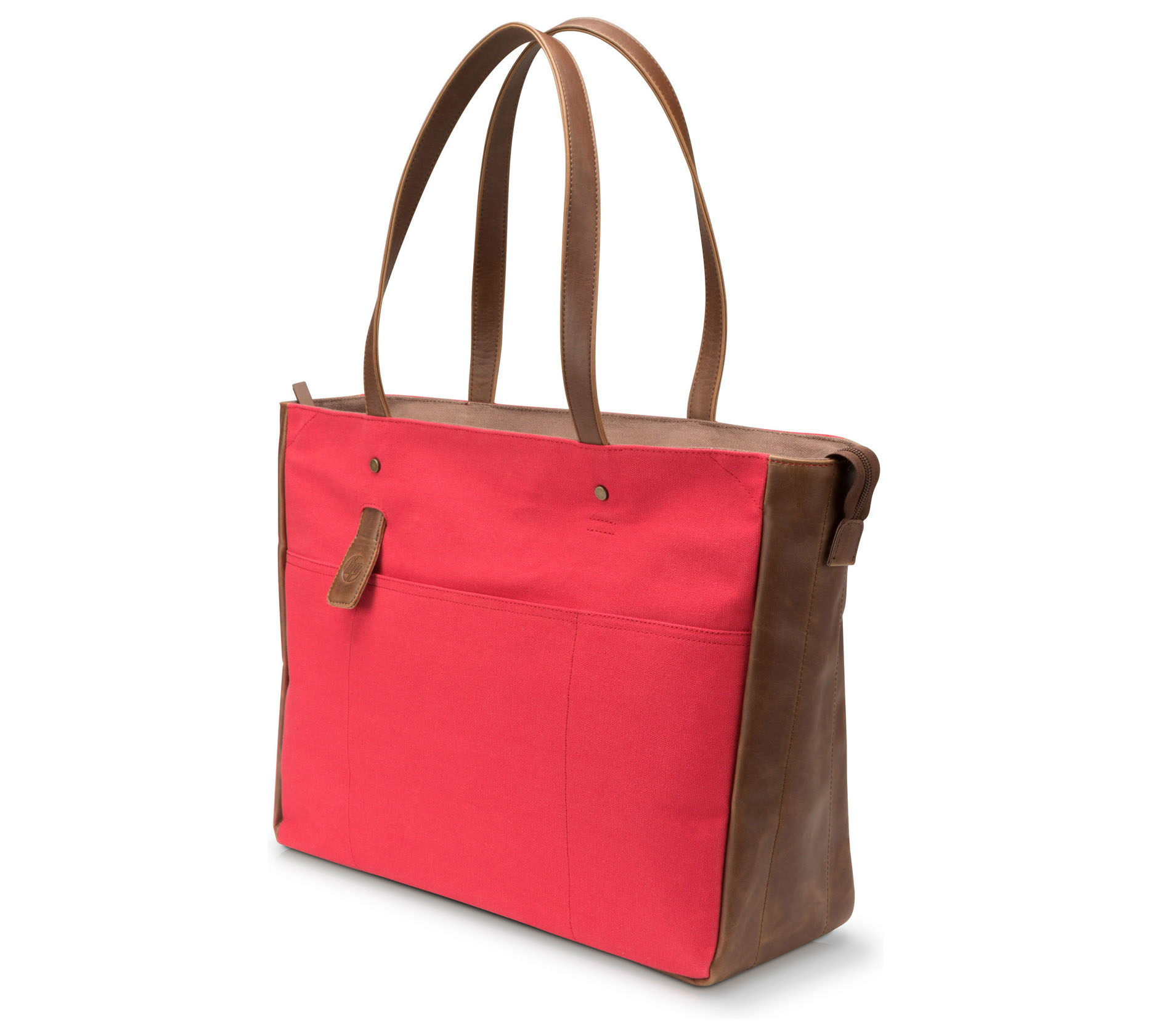 "HP Red/Brown Women Canvas Tote Venetian Notebook 13""-14"" + Tablet Case V1M57AA"