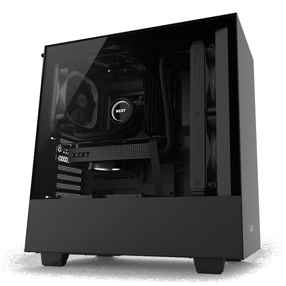 NZXT H500 Matte Black – Tempered Glass (5060301694051)