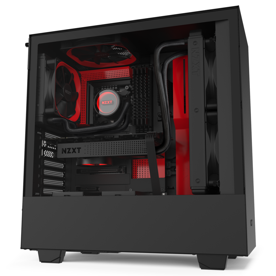 NZXT H510 Red - Tempered Glass (5060301695072)