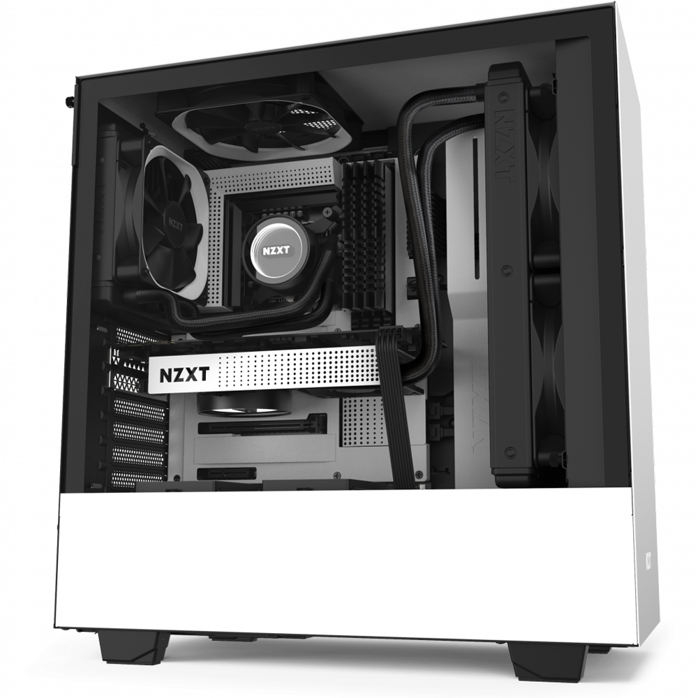 NZXT H510 White - Tempered Glass (5060301695065)