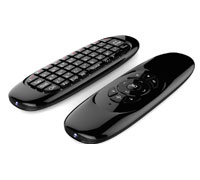 Soultronic Air Mouse: Mini QWERTY Keyboard & Remote Control & Air Mouse (συμβατό με MAC, iOS, Linux, Windows, Android, Sony PS3)