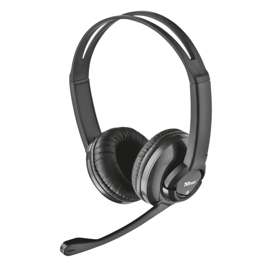 Trust ZAIA 15482-02 On-Ear Stereo Headphones (κλήσεις & μουσική με Remote + Volume Control)