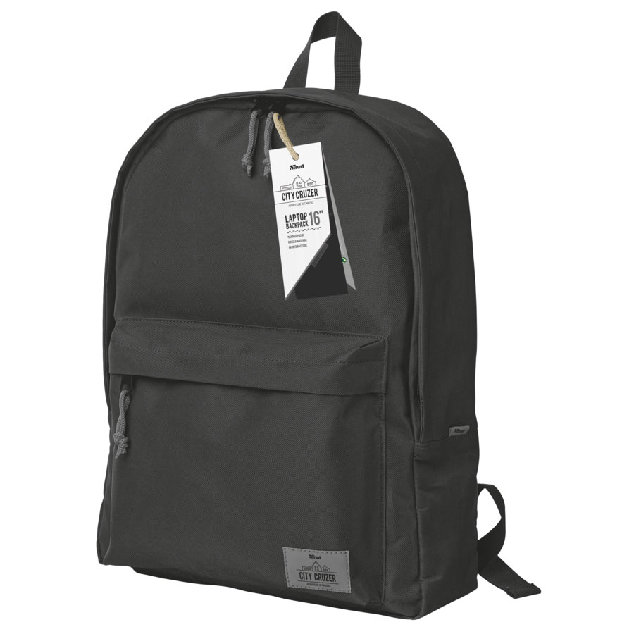"Trust 20677 City Cruzer Notebook Backpack 15""-16"" (Weatherproof + Rugged Material + Padded Backside)"