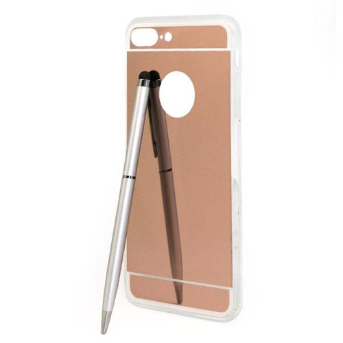 Θήκη TPU inos Apple iPhone 7 Plus/ iPhone 8 Plus Mirror Ultra Slim 0.3mm Ροζ-Χρυσό (5205598089979)