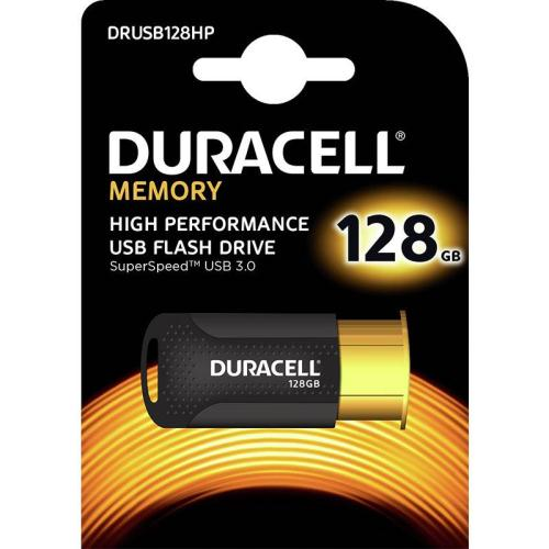 USB 3.1 Flash Disk Duracell High Performance 128GB Μαύρο-Χρυσό (5055190177280)