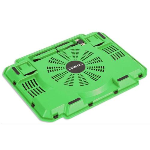 Βάση - Cooling Stand Omega Ice Box 1 Fan για Laptop 10''-17΄' Πράσινο (5907595419055)