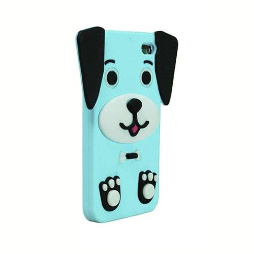 Θήκη Silicon 3D Apple iPhone 5/5S/SE Puppy Γαλάζιο (5205598089054)