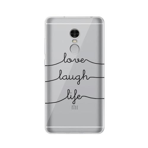 Θήκη TPU inos Xiaomi Redmi Note 4/ 4X Art Theme Love-Laugh-Life (5205598105846)
