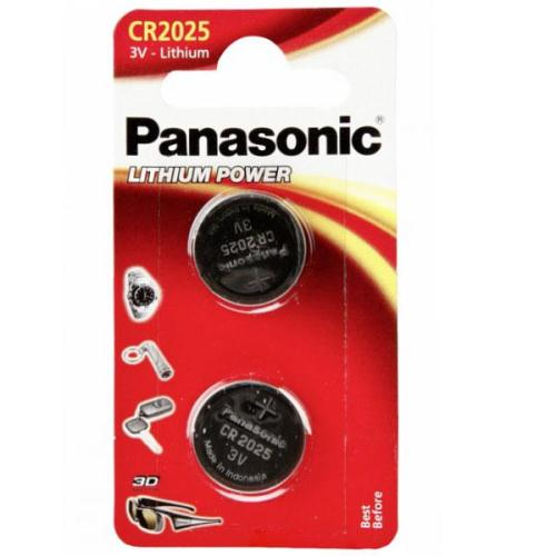 Lithium Button Cells Panasonic CR2025 (2 τεμ) (5025232060672)