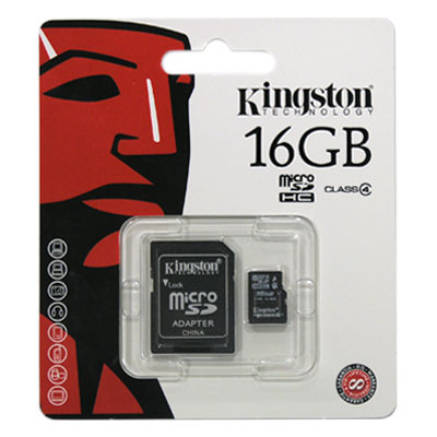 Κάρτα μνήμης Micro SD C4 Kingston 16Gb + 1 ADP (740617173741)