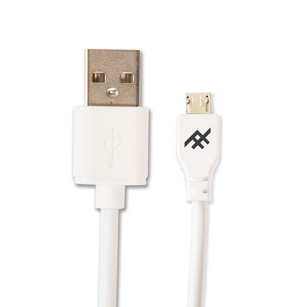 iFrogz UniqueSync Charge/Sync microUSB Cable 1.8m White