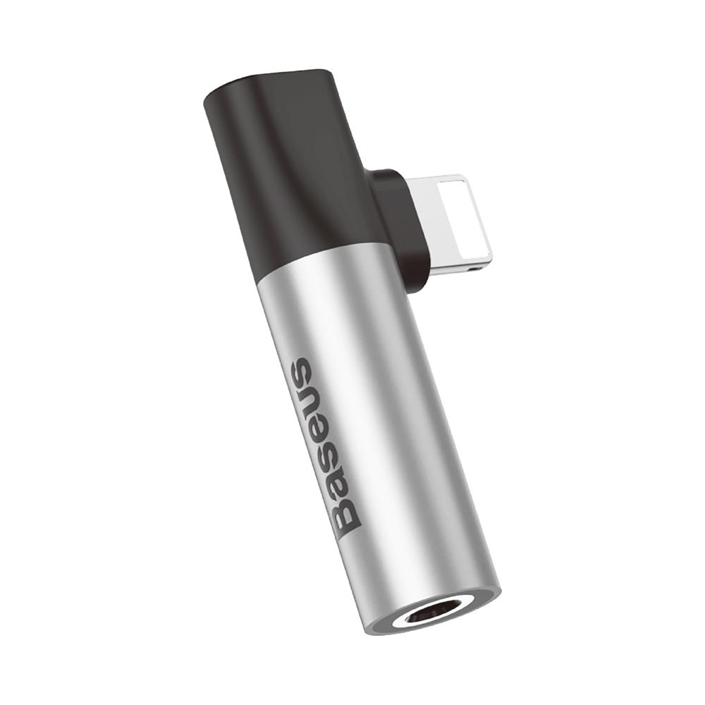 Baseus L43 Silver Lightning --> 3.5mm Audio Jack Adapter & Lightning Charge (Φορτίστε | Ακούστε Μουσική)