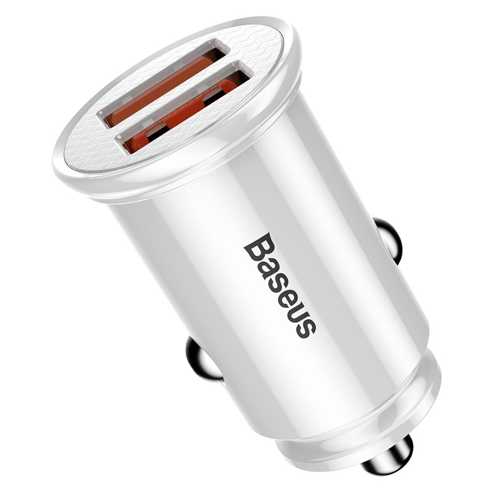 Baseus CCALL-YD02 Dual QC3.0 USB Quick Car Charger 30W