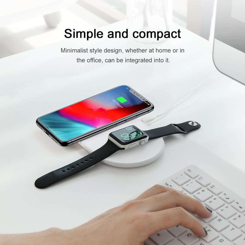 Baseus WX2IN1-02 Smart 2-in-1 Qi Wireless Charger (στηρίξτε και φορτίστε χωρίς καλώδια Smartphone + Smartwatch!)