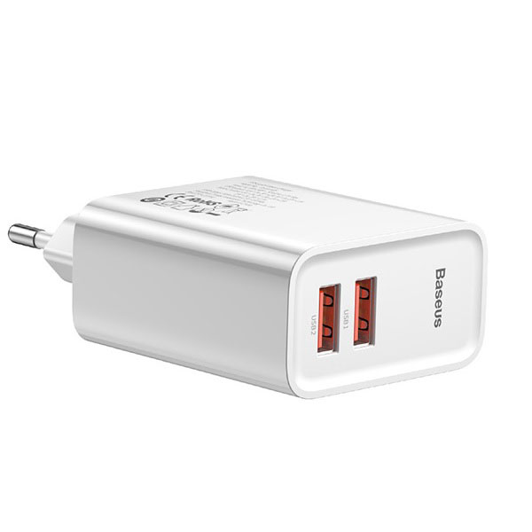 Baseus CCFS-E02 Speed Dual QC3.0 2x USB Quick Charger με τεχνολογία Qualcomm Quick Charge 3.0!