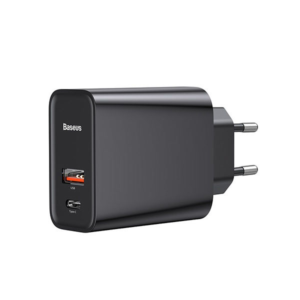 Baseus BS-EU905 Black Speed Dual PD3.0+QC3.0 USB & Type-C Quick Charger