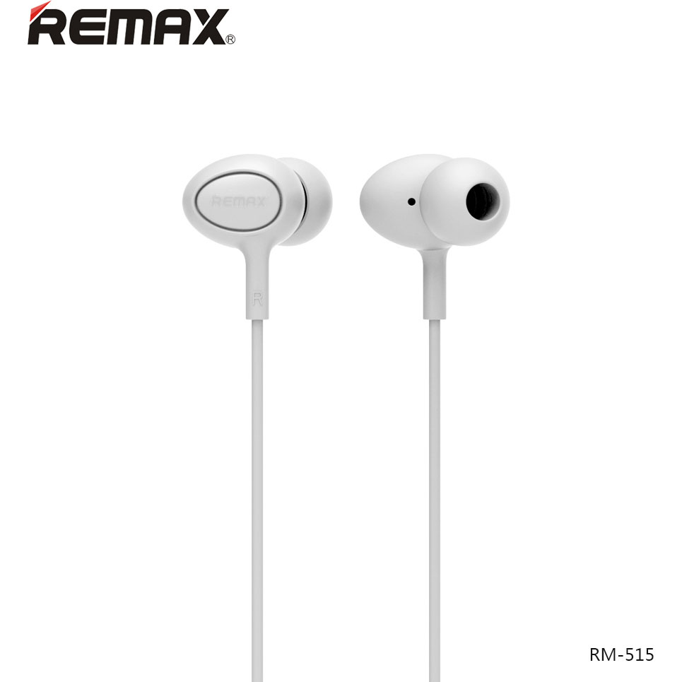 Remax RM-515 White: Wired Earphones για Κλήσεις & Μουσική (Android / Windows / iOS)