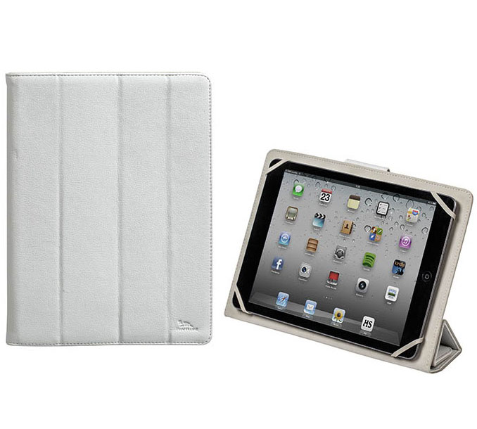 Rivacase 3117 White Universal Tablet Case & Stand: Θήκη για Tablet έως και 10.1""