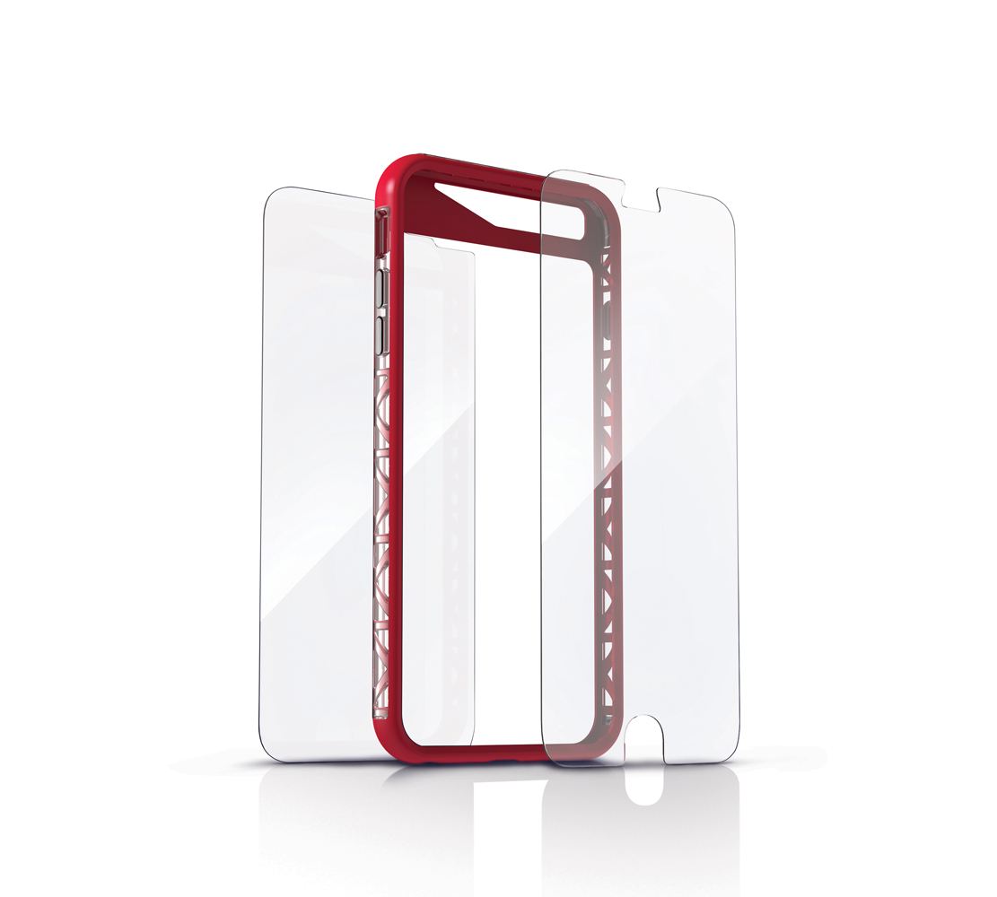 "ZAGG invisibleSHIELD Orbit Extreme (Full Body HDX + Bumper Case) για Apple iPhone 6 / 6S (4.7"") Red (Προστασία 360 μοίρες)"