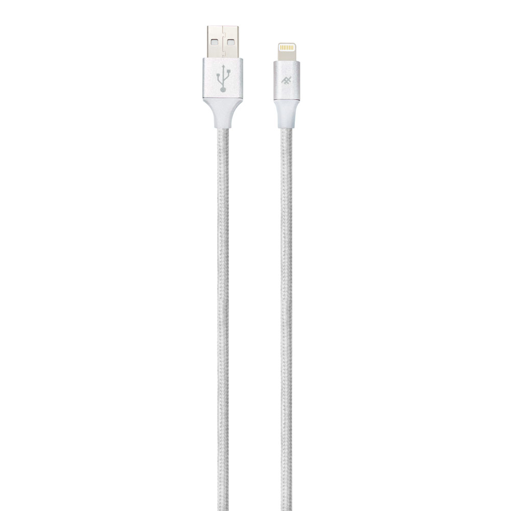 iFrogz UniqueSync Premium Charge/Sync Lightning Cable 3m Silver: MFI Certified + Durable Nylon Braided