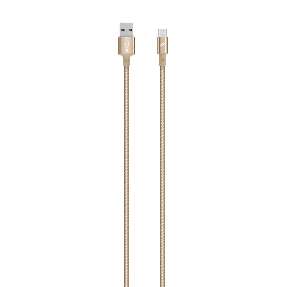 iFrogz IFUSMU-GD3 UniqueSync Premium Charge/Sync microUSB Cable 3.0m Gold: Durable Nylon Braided