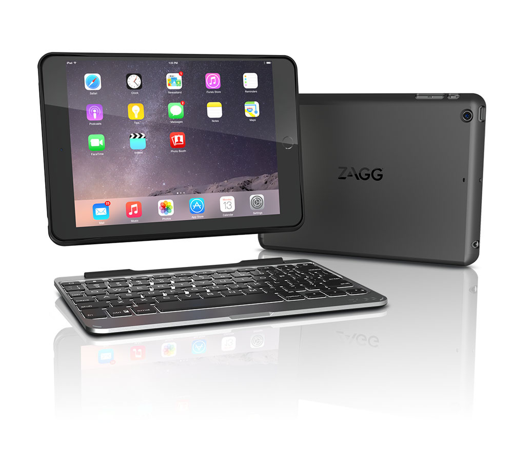 Zagg Slim Book για iPad mini/2/3/Retina: Ultra-Slim Tablet Keyboard & Detachable Case (αυτονομία έως 2 έτη!)