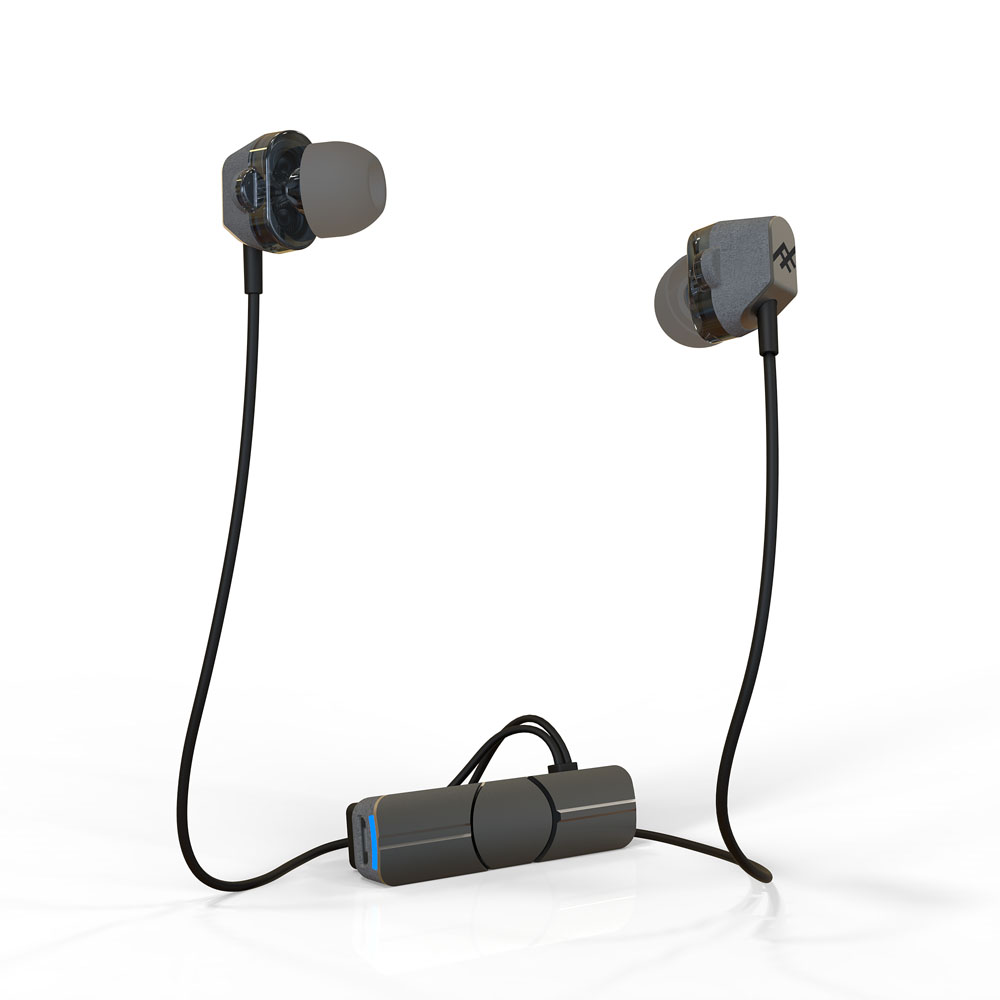 iFrogz Impulse Duo Wireless Charcoal Black: Premium Audio Bluetooth Earbuds + Sweat Resistant + Dual Neodymium Drivers
