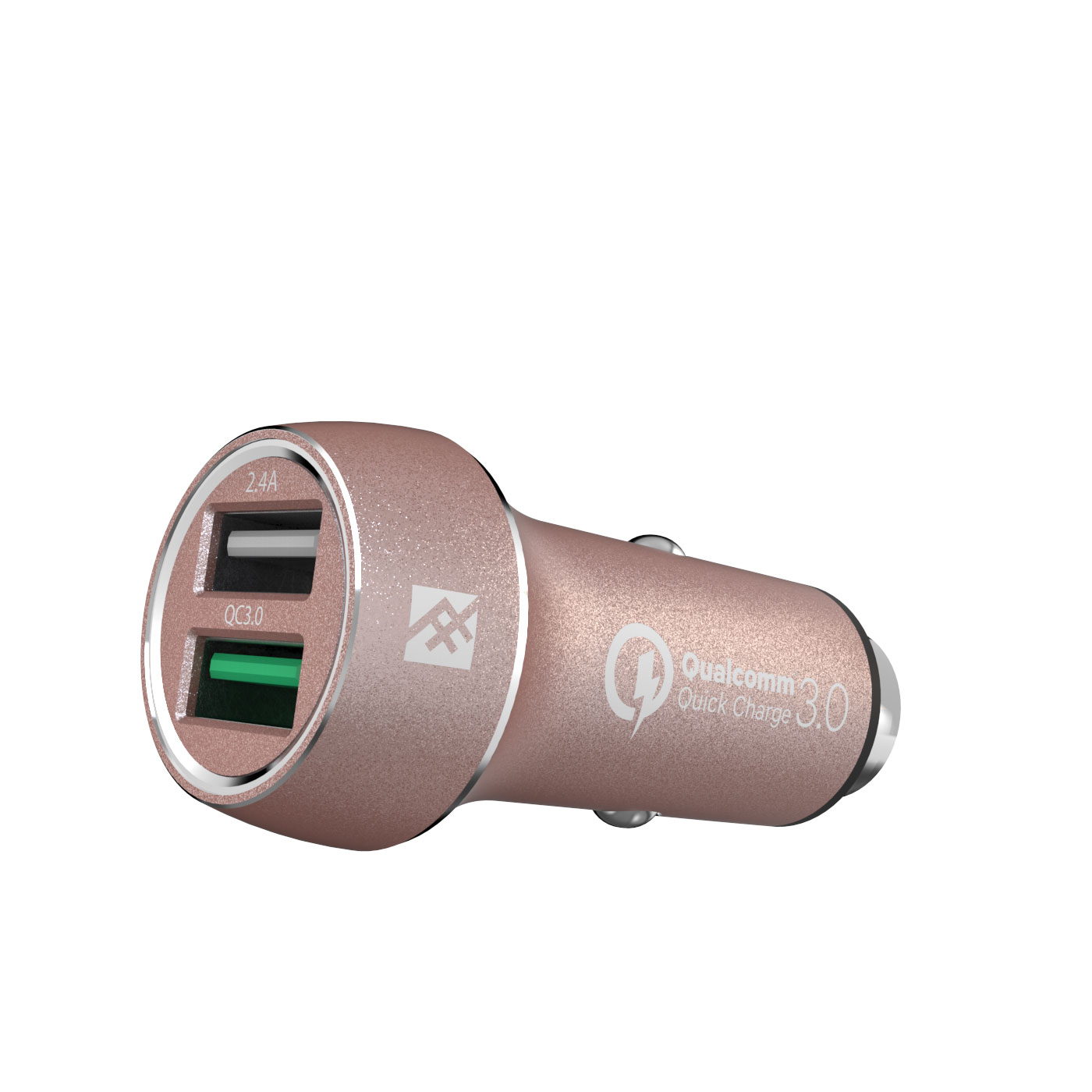 iFrogz UniqueSync Rose Gold Premium Dual USB Car Charger @ 5.4A με τεχνολογία Qualcomm Quick Charge 3.0!