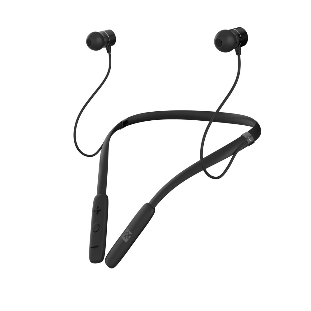 iFrogz Flex Arc Wireless Neckband Earbuds Black: Around-the-Neck Bluetooth Earbuds + IPX-2 Sweat Proof