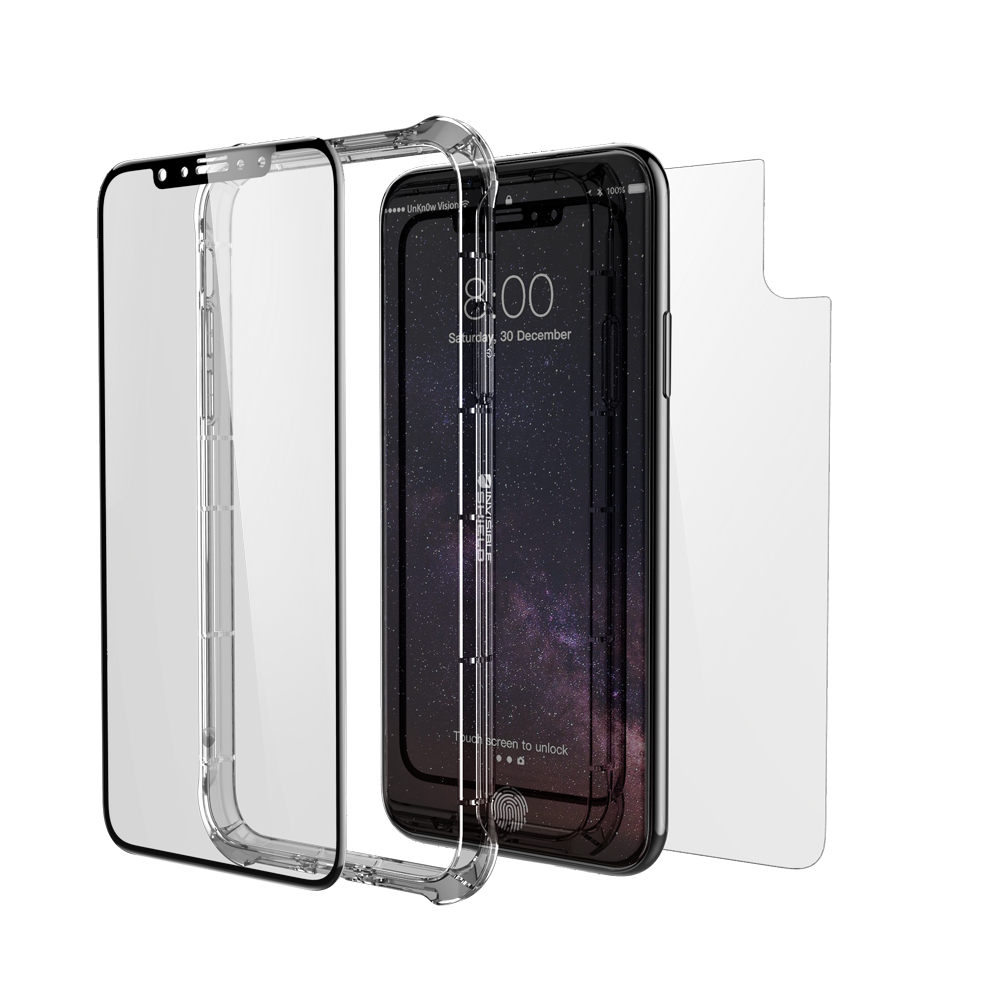 ZAGG invisibleSHIELD Glass+ Contour 360 (Contour Black Glass Front + Bumper Case) για Apple iPhone X / iPhone XS