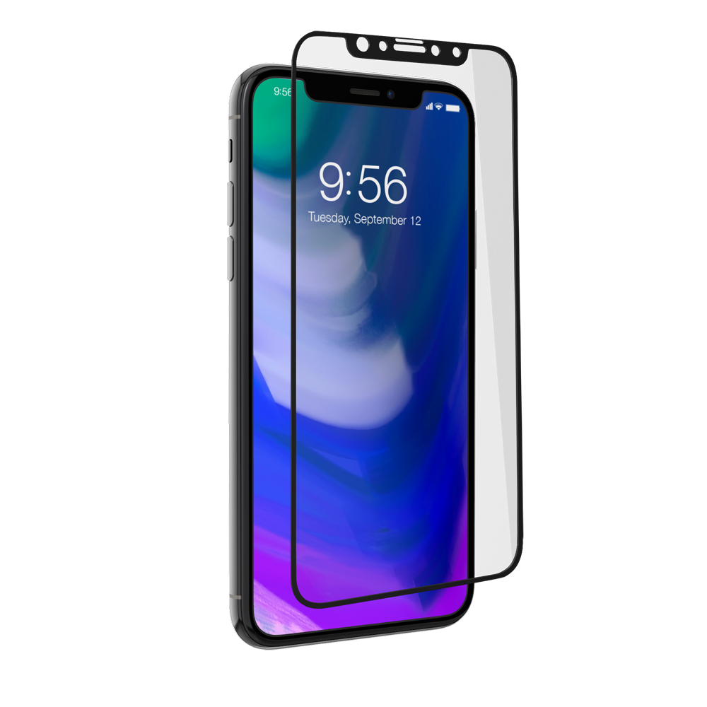 "ZAGG Glass+ Contour Curved Impact & Scratch Protection Full Face Glass Black για Apple iPhone X (5.8"")"