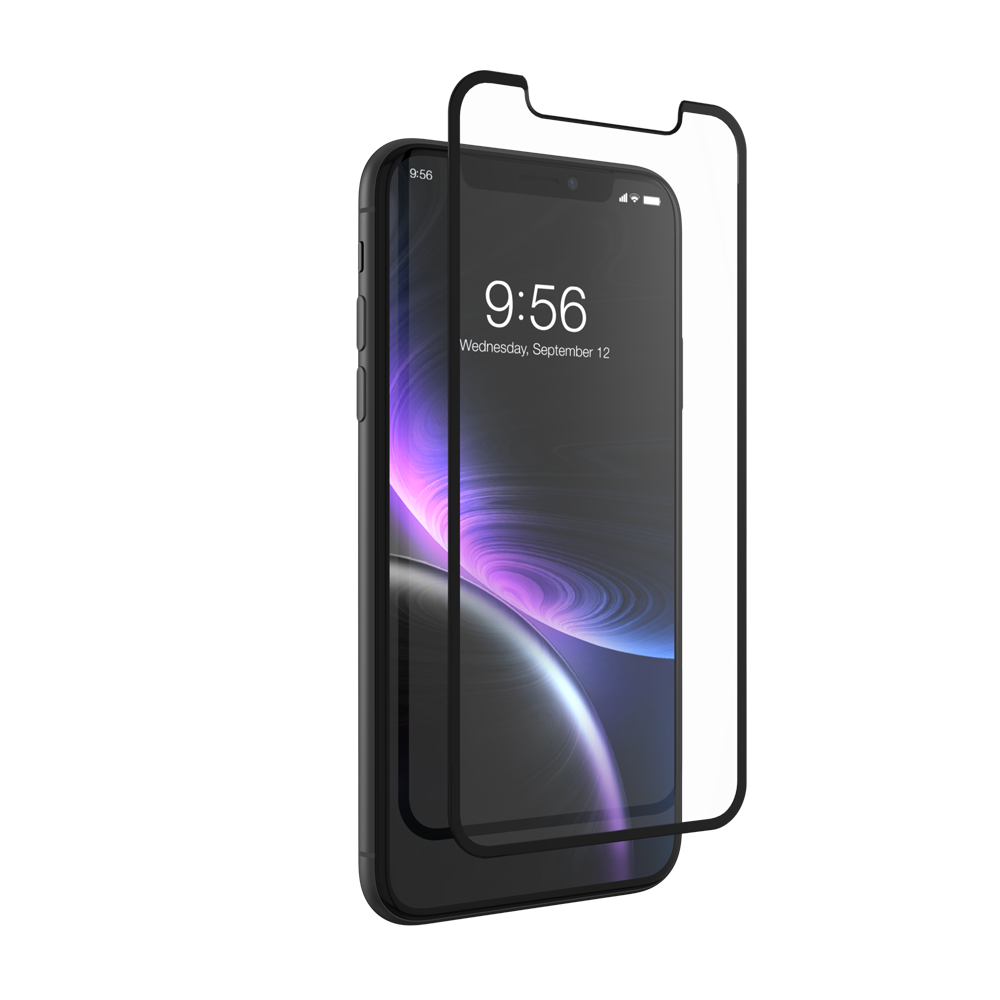ZAGG Glass+ Contour Curved Impact & Scratch Protection Full Face Glass Black για Apple iPhone XR - 11