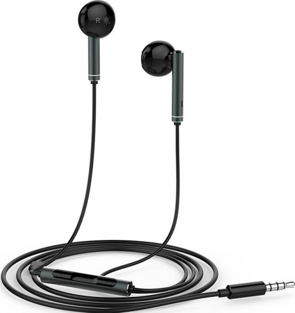 Huawei AM116 Black Stereo Earphones with Remote & Microphone (κλήσεις & μουσική)