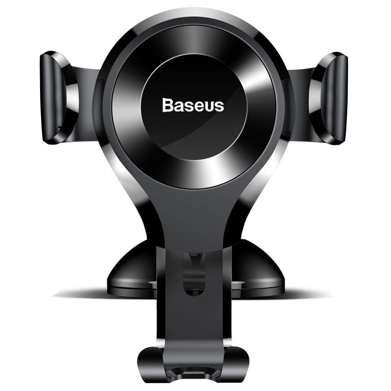 Baseus Osculum Type Gravity Car Mount Black/Black | One-Hand Operation | Multi-Angle | Charging Hole