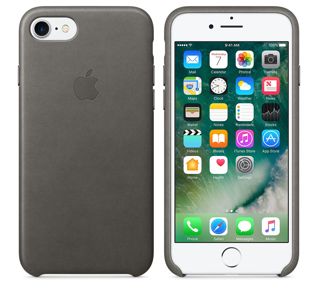 "Apple MMY12ZM Original Leather Case για iPhone 7 & 8 (4.7"") Storm Gray"