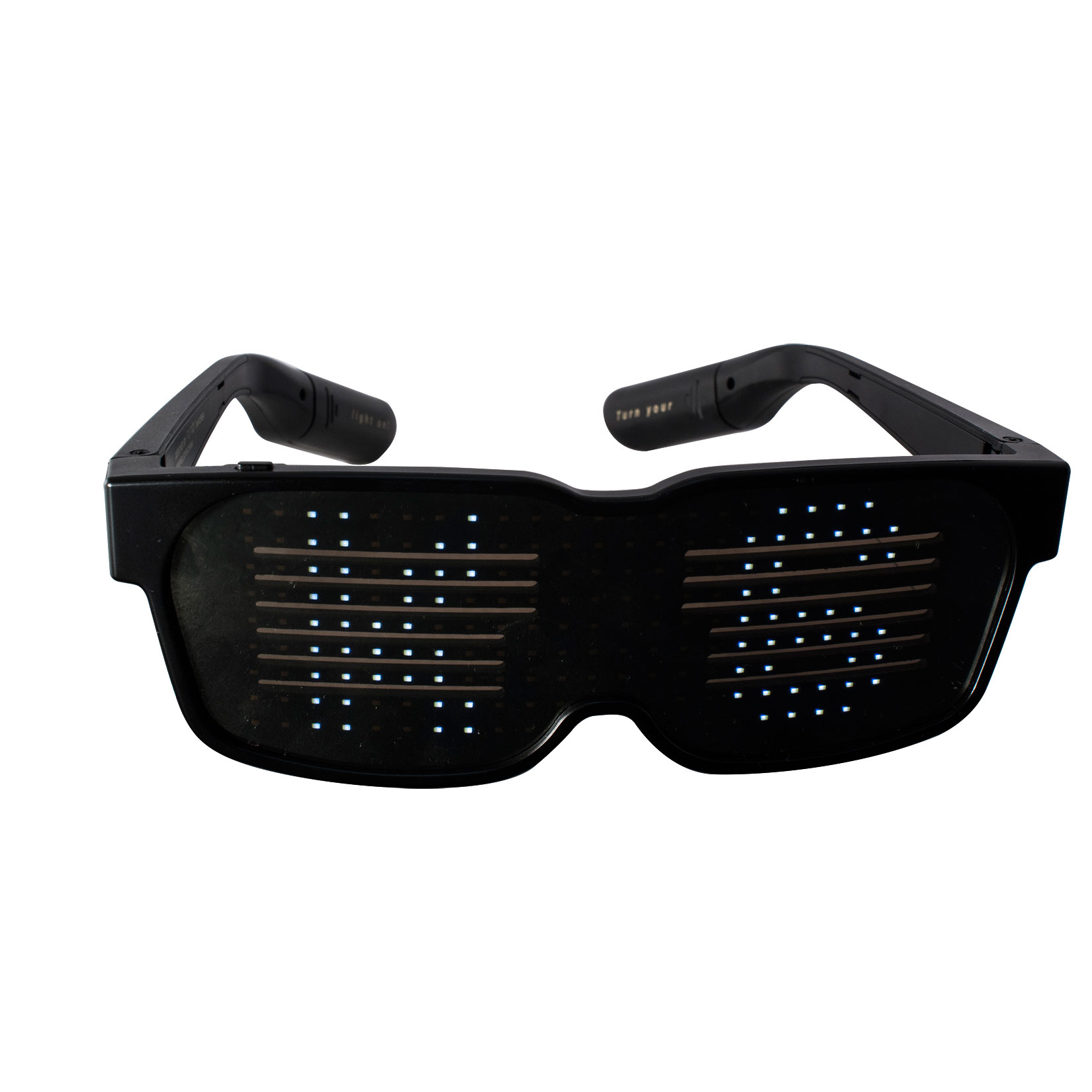 Ksix Pixi Glasses with LEDs: Customizable Bluetooth LED Glasses for Festivals, Fun, Nightclubs, Parties