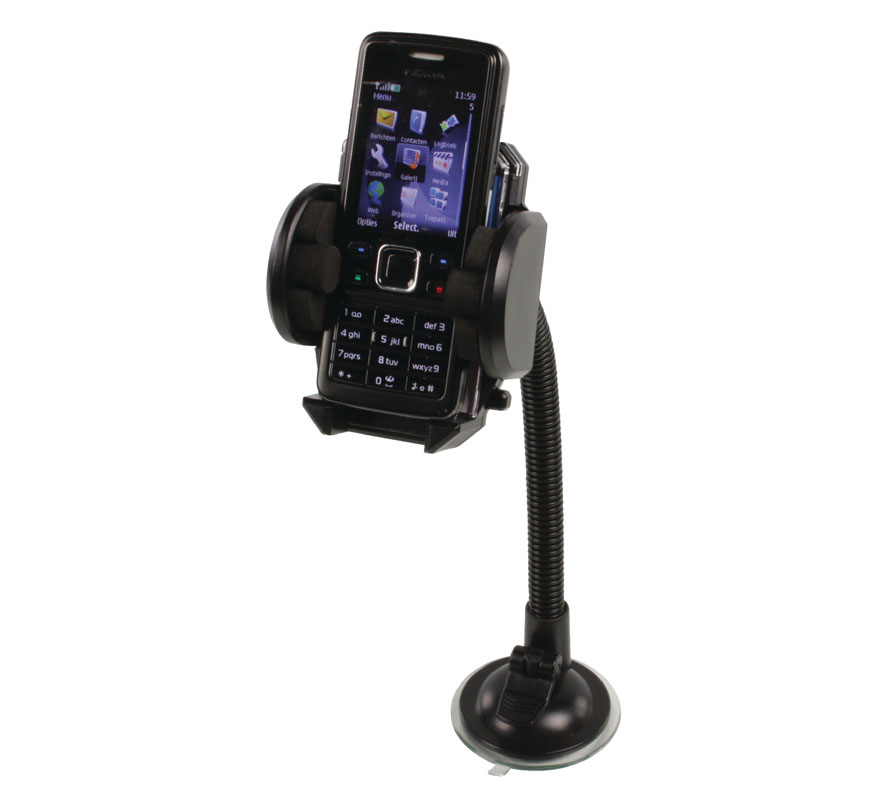BasicXL BXL-HOLDER20 Universal Car Holder + 26cm Gooseneck για Κινητά & Smartphones