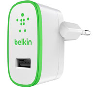 Belkin F8J040vfWHT Boost UP Travel & Home Charger USB 2.4A: Φορτιστής ρεύματος με έξοδο USB