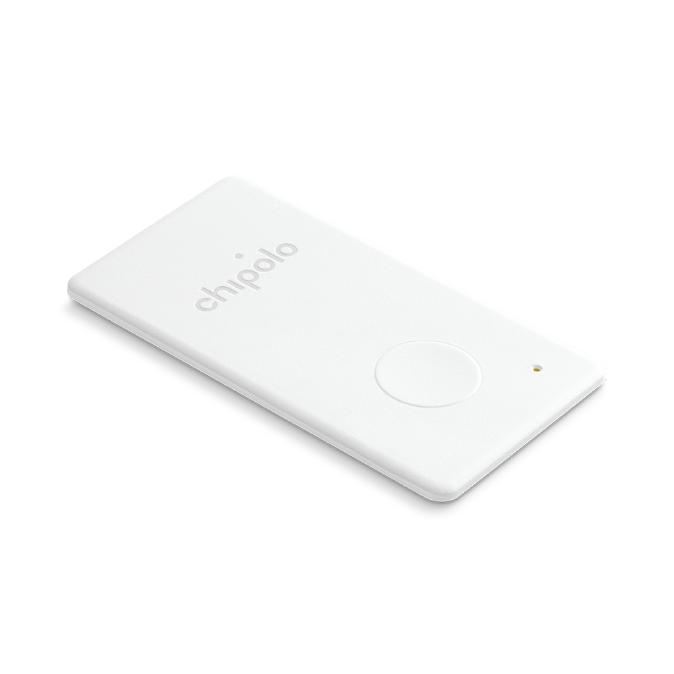 Chipolo Card Wallet Finder (White) Tag it. Find it. Bluetooth Alarm System: iOS & Android συναγερμός απόστασης αντικειμένων!