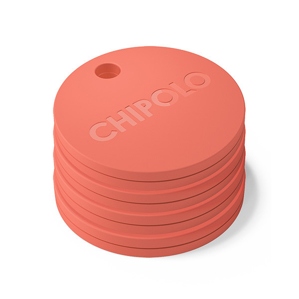 Chipolo Plus @ 100db (Coral Red) Tag it. Find it. Bluetooth Alarm System: iOS & Android συναγερμός απόστασης αντικειμένων!!!