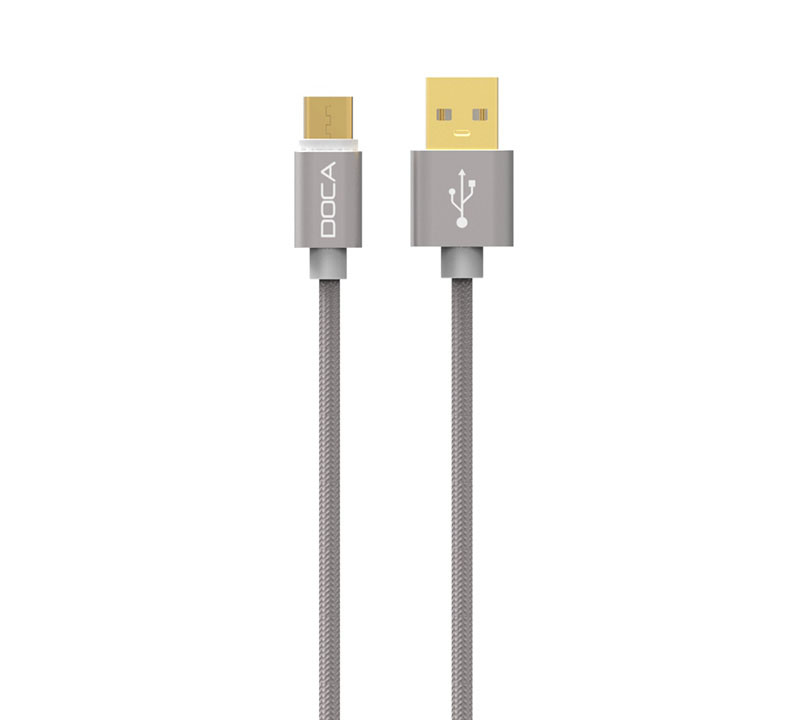 Doca D-U101C Titanium USB --> Type-C Quick Charge & Data Cable 1m (Fast Charge + Fast Speed + Ανθεκτική κατασκευή πλεξούδας)
