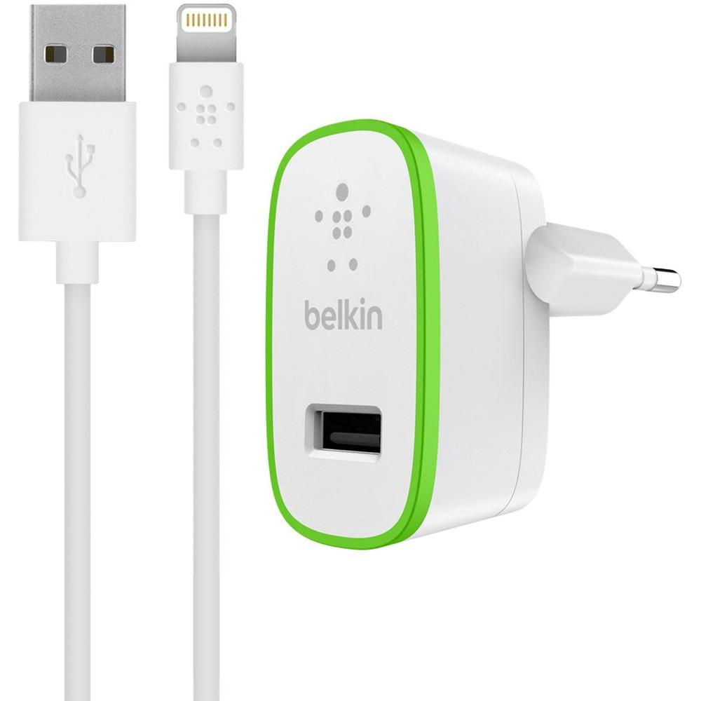 Belkin Boost Up USB Home Charger @ 2.4A + Lightning Cable (F8J125vf04-WHT): Φορτιστής Ρεύματος USB + Lightning καλώδιο!