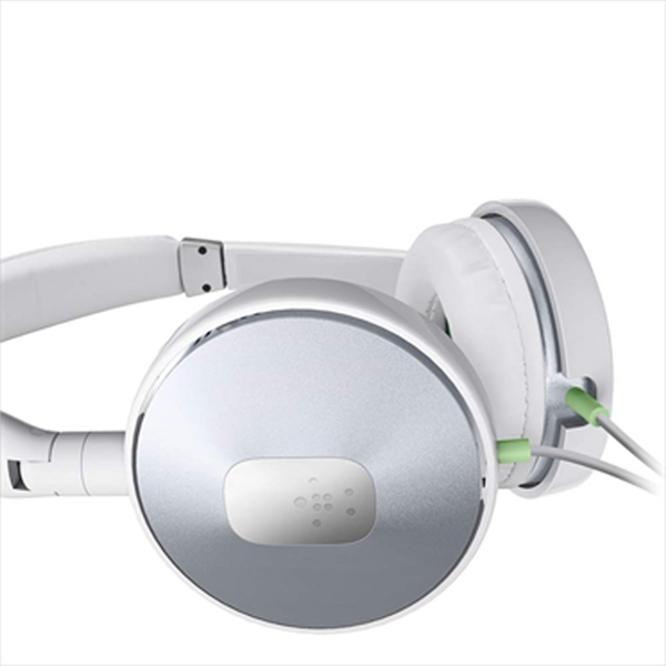 Belkin PureAV005 On-Ear Stereo Headphones 40mm (G2H1000cwWHT): Κλήσεις & Μουσική με Multifunction Remote + Extra Bass!