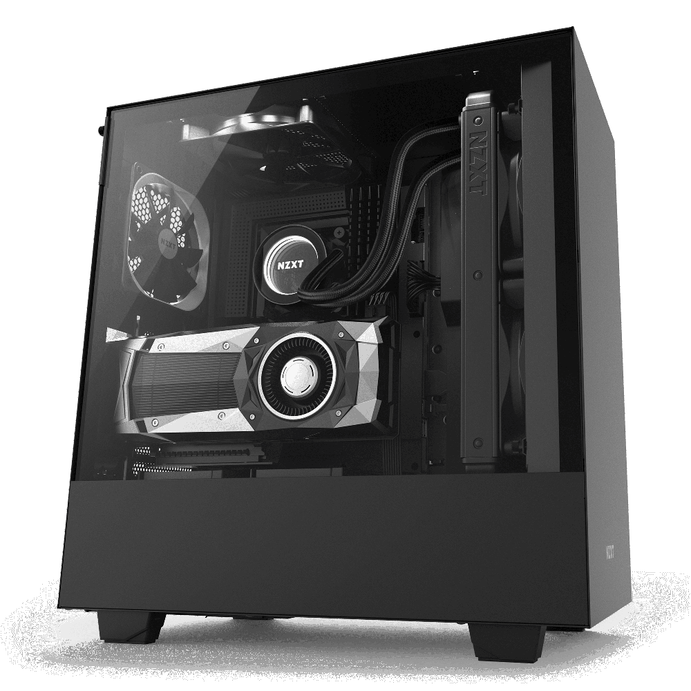 NZXT H500i Matte Black - Tempered Glass - RGB-Smart Device (5060301694099)