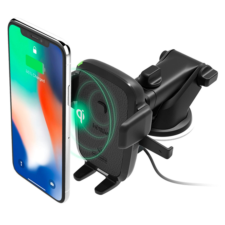 iOttie Easy One Touch Wireless Fast Charging Car & Desk Mount Holder HLCRIO134AM (Qi Wireless Certified)