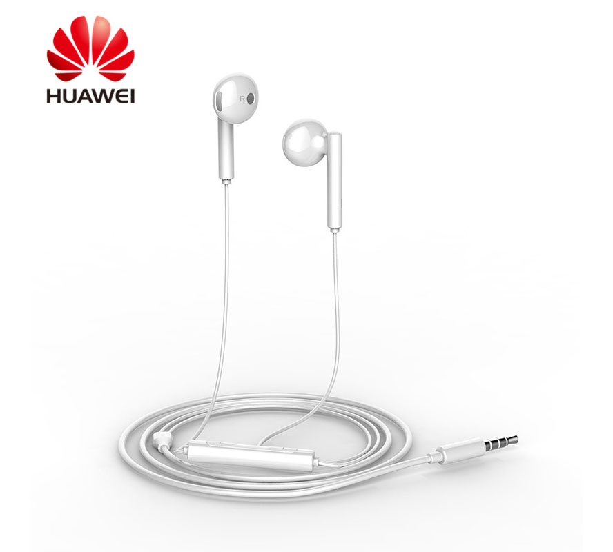 Huawei AM115 White Stereo Earphones with Remote & Microphone (κλήσεις & μουσική)