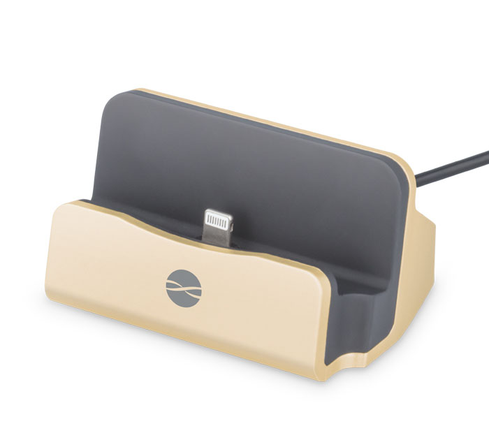 Forever DS-01 Gold Office Stand & Charge Station (Βάση στήριξης και φόρτισης για iPhone, iPad & iPod)