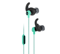 JBL Reflect Mini Teal: In-ear Sport Headphones  (Android/iOS/Universal, κλήσεις & μουσική με Flat καλώδιο)