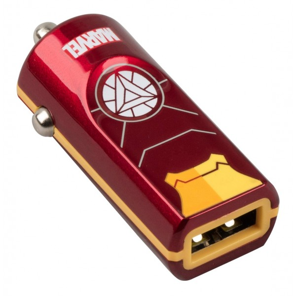 Tribe Marvel Iron Man Car Charger | 1 x USB @ 2.4A | Fast Charge | Tablets & Smartphones